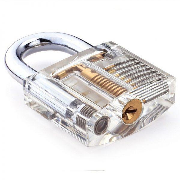 Transparent Visible Padlock Practice Lock