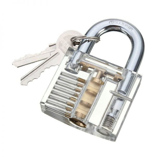 Transparent Visible Padlock Practice Lock