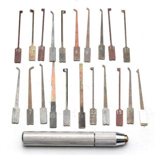 GOSO Interchangeable 21-Piece Lock Pick Set