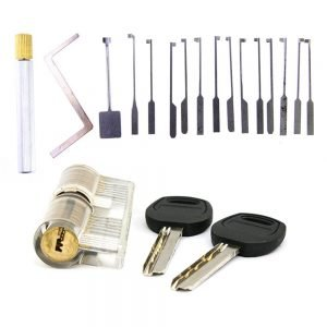 KABA Dimple Pick Set w/ Transparent Practice Lock Bundle