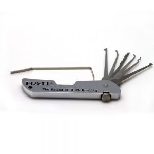 H&H Folding Lock Pick Set Multi-Tool Pocket Locksmith Jackknife