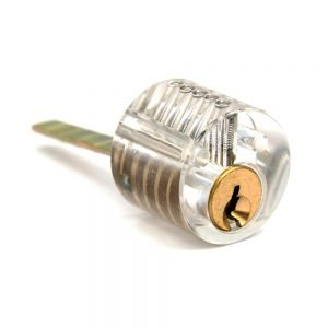 Transparent 5 Pin Rim Cylinder Practice Lock