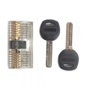 Transparent 7 Pin Dimple Practice Cylinder Lock