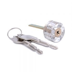 Transparent Cruciform (Cross) Practice Lock
