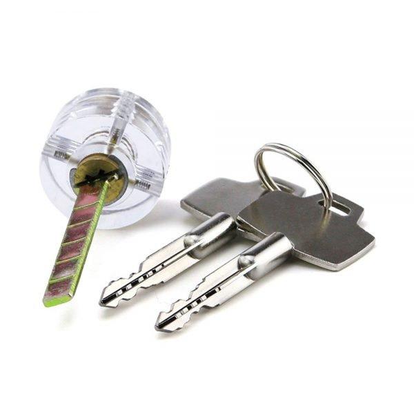 Transparent Cruciform (Cross) Practice Lock