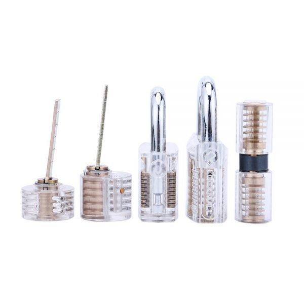 Transparent Visible Practice Locks - 5 Pack