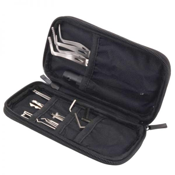 HUK 20 Lock Pick Set with LED - Interchangeable Handle