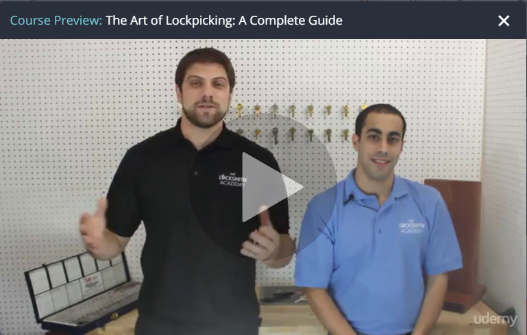 Locksmith Training (Lock Picking) Course on Udemy
