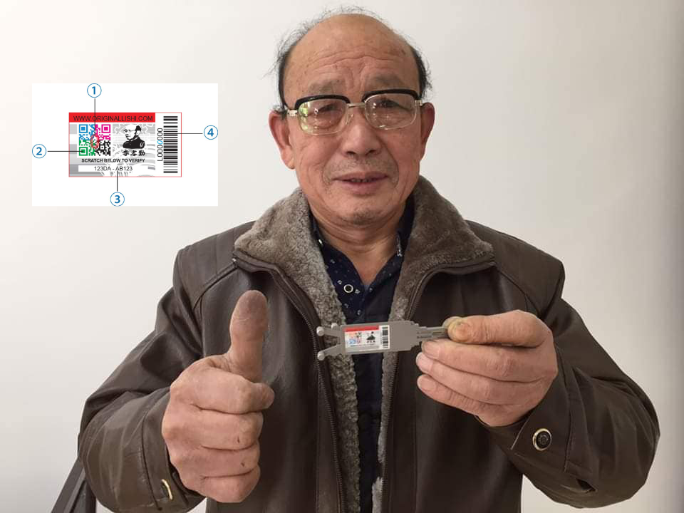 Mr. Li holding Original Lishi
